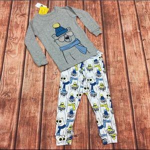 Gap Boys 12-18 Month Sunglass Bear Pajamas